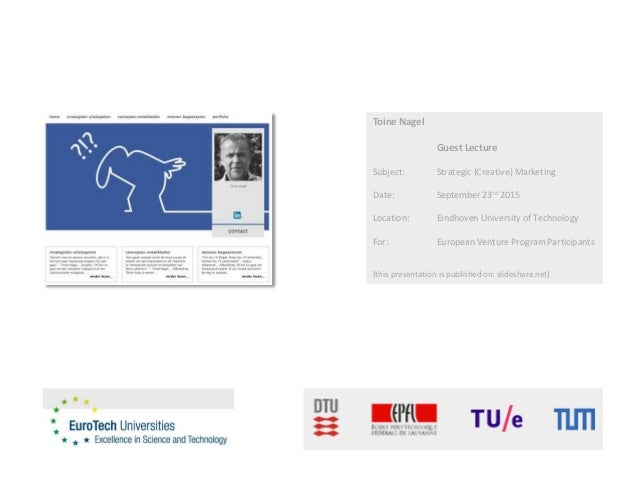 Toine Nagel    Eurotech Universities   guest lecture Slide 2