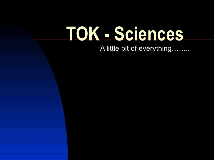 TOK: Human Sciences vs. Natural Sciences