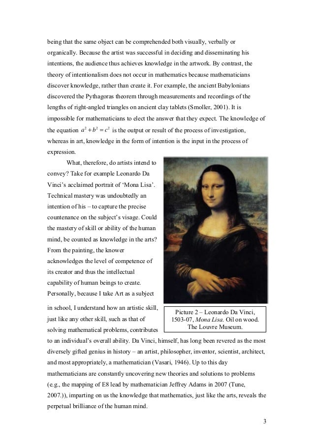 tok theory of knowledge essay what counts as knowledge in the arts  the museum of modern art 3