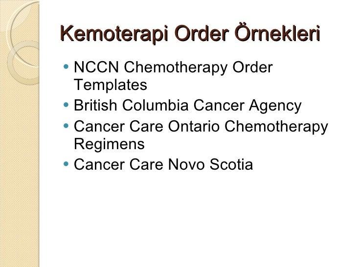 Onkolojide nternet kullan m for Nccn chemotherapy order templates