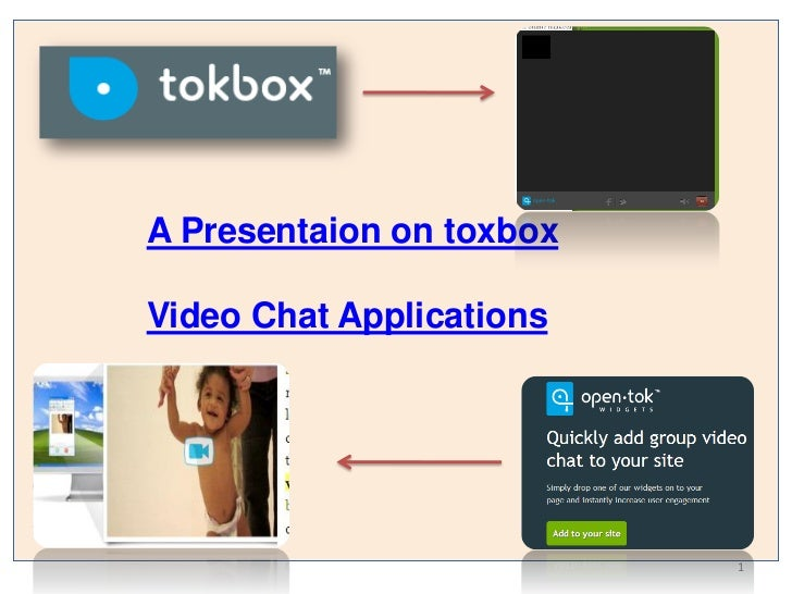 A Presentaion on toxboxVideo Chat Applications                          1