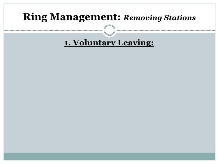 Ring Management: Removing Stations        1. Voluntary Leaving: