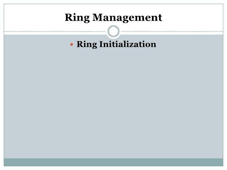 Ring Management Ring Initialization