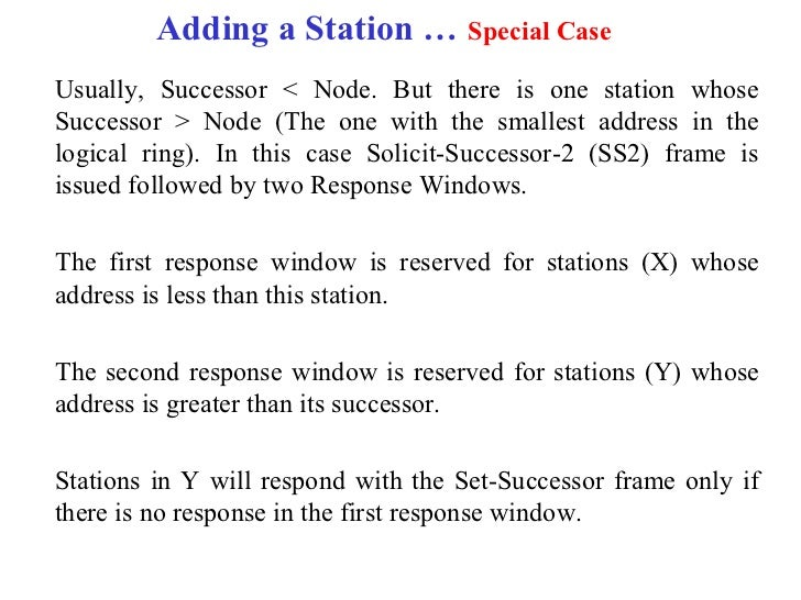 Adding a Station … Special CaseUsually, Successor < Node. But there is one station whoseSuccessor > Node (The one with the...