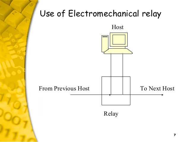 7 Use of Electromechanical relay From Previous Host To Next Host Host Relay