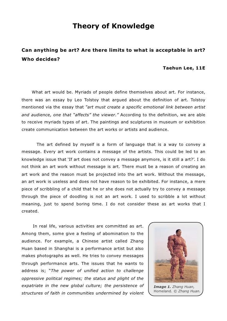 sandeep erinarians tok essay