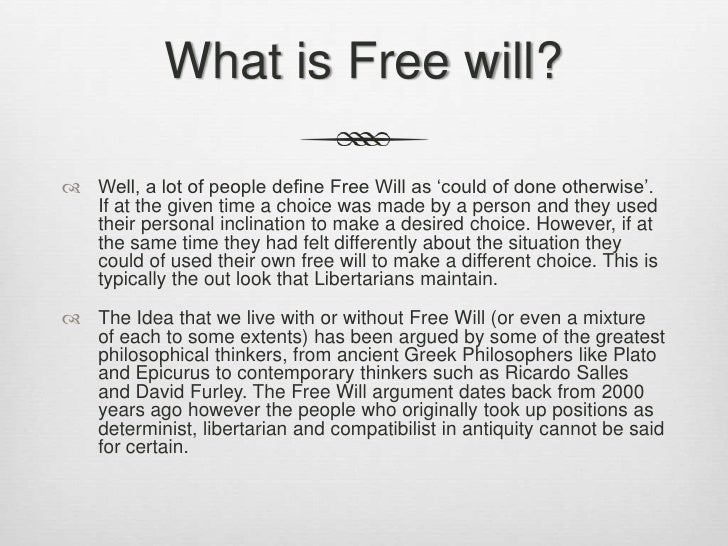 Image result for free will definition