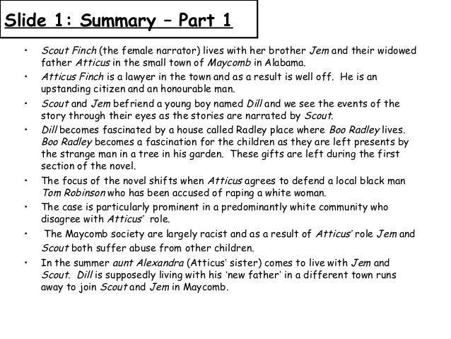 to kill a mockingbird synopsis short