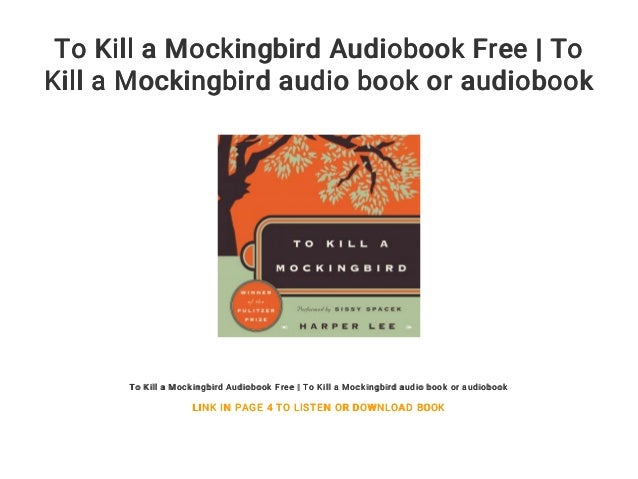 to kill a mockingbird voice reader free