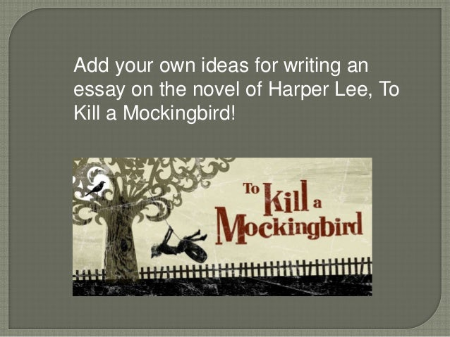 essay of the book to kill a mockingbird Literary essay - to kill a mockingbird 3 pages 850 words november 2014 saved essays save your essays here so you can locate them quickly.