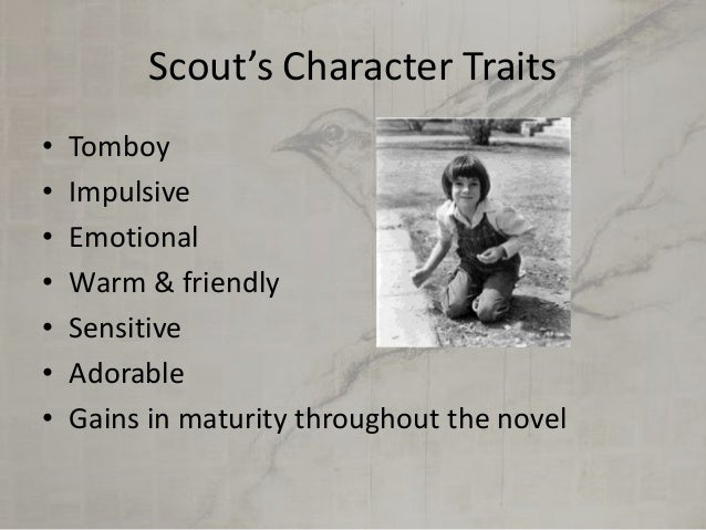 character traits of scout finch with page numbers