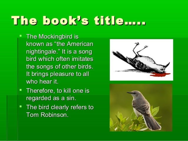 to kill a mockingbird revision 2 the book s title