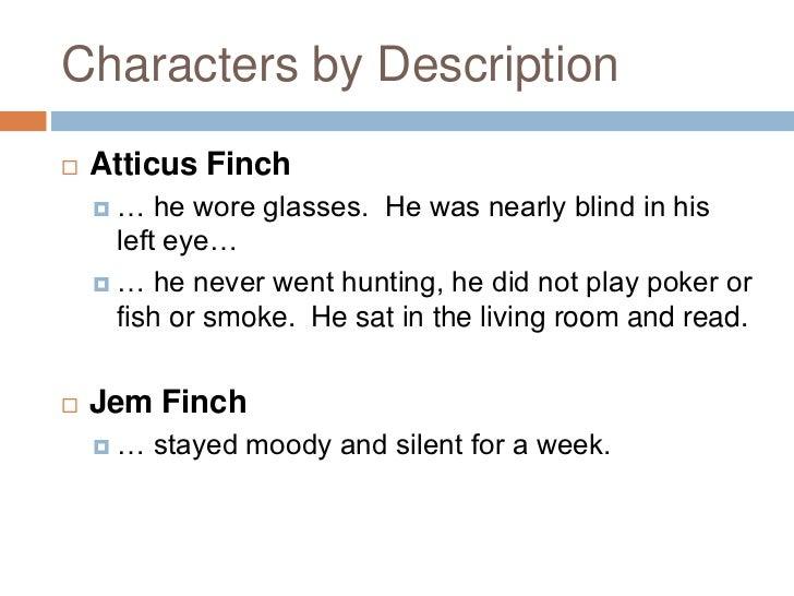 description of atticus from to kill a mockingbird