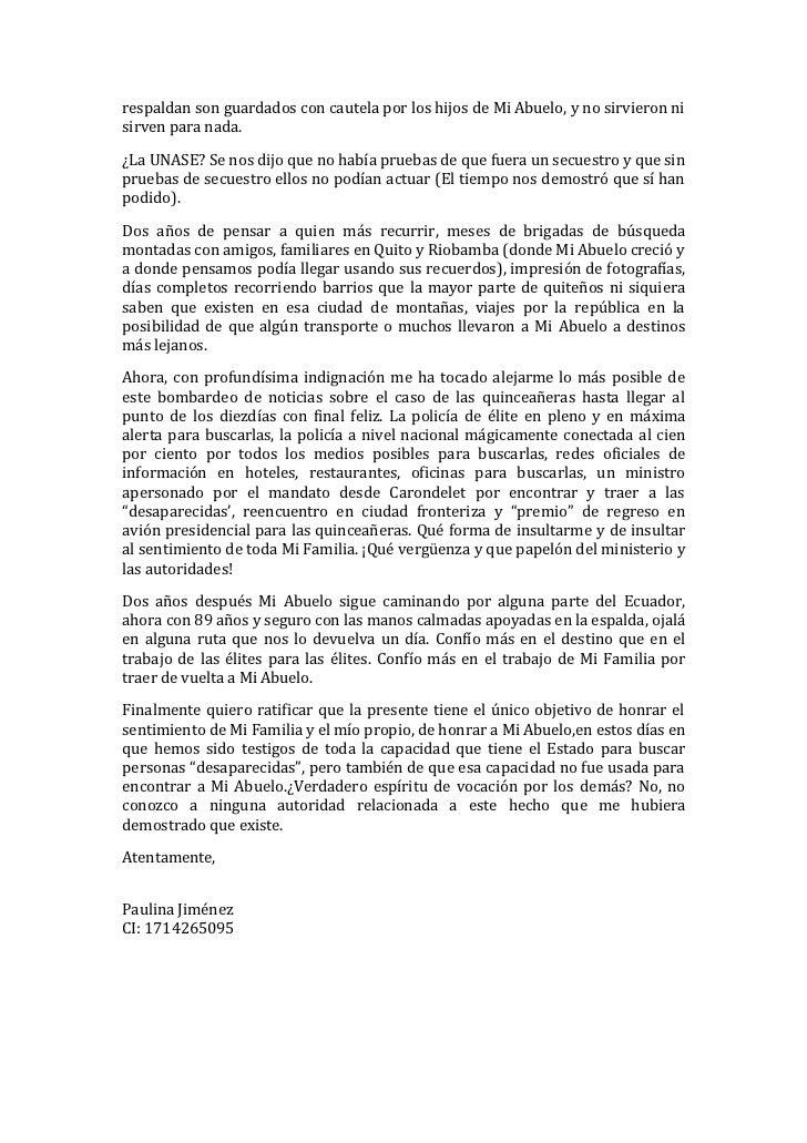 Carta dirigida al sr jose serrano ministro del interior for Como llegar al ministerio del interior