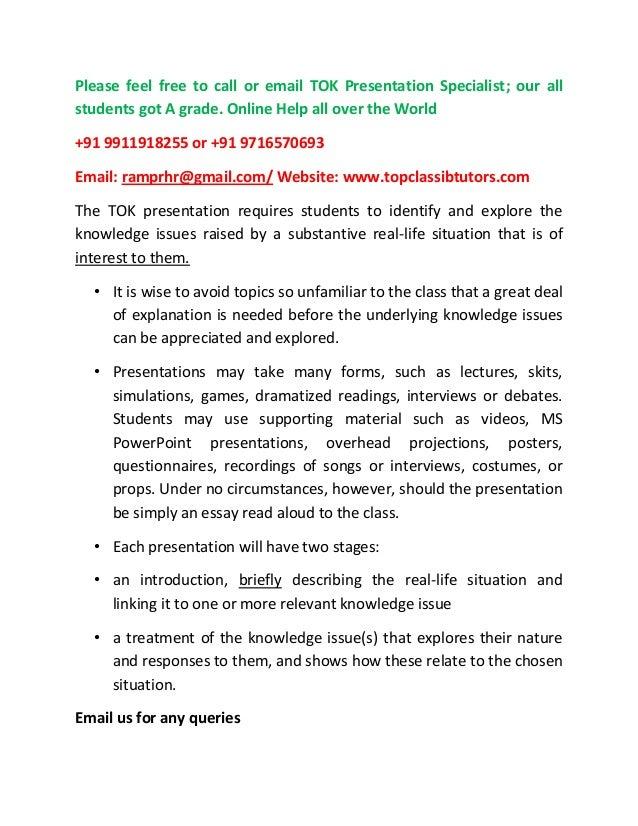 Tok presentation help guide tutors write up slides samples for Tok presentation template