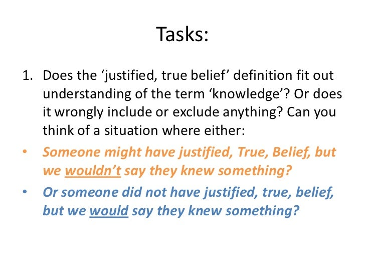 justified true belief essay
