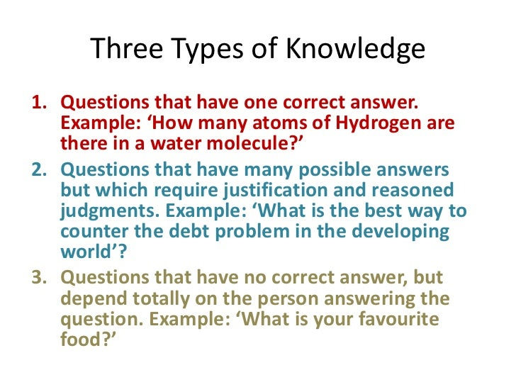 three varieties of knowledge a critque The result has been a slide from epistemology per se to sociology of knowledge which, in turn, has allowed several highly controversial epistemological assumptions regarding the nature of knowledge, the process of knowing, assessment criteria, and standards of evidence to be incorporated unreflectively into feminist arguments.
