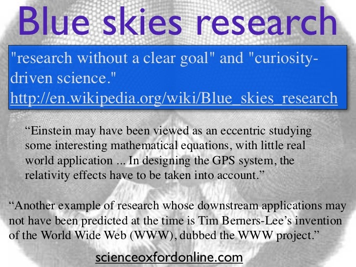 Blue skies research