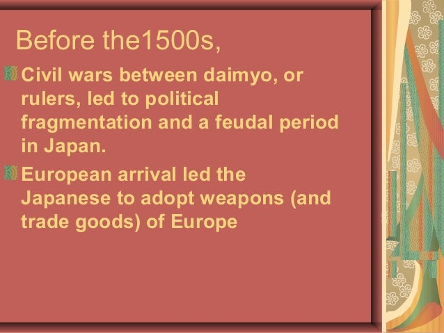 Japan in the 1500s Christian missionaries, converted thousands with support from many daimyo.