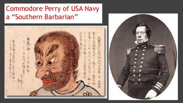 """Commodore Perry of USA Navy a """"Southern Barbarian"""""""