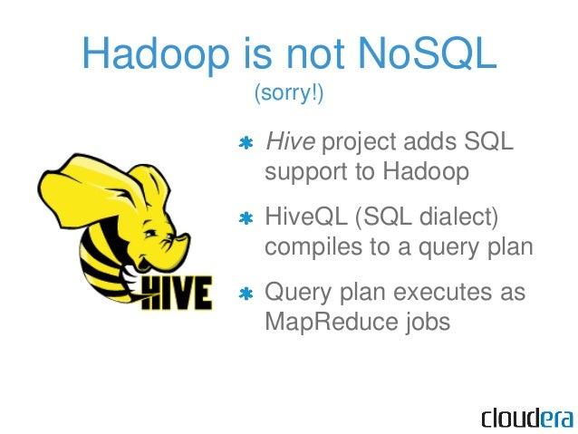 The Hadoop Ecosystem (Column DB)
