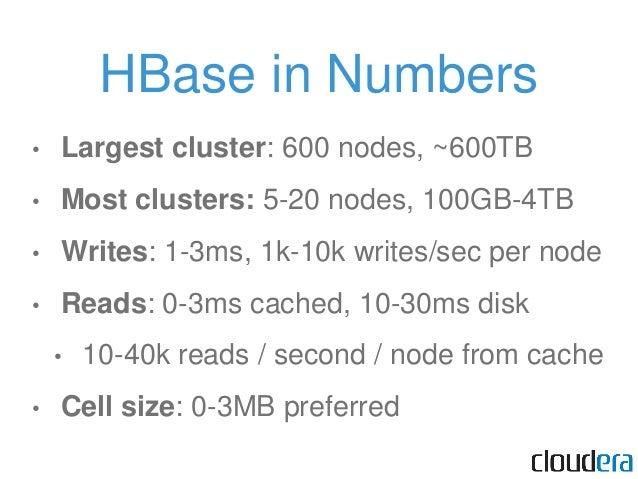HBase in Production • Facebook (product release soon) • StumbleUpon / su.pr • Mozilla (receives crash reports) • … many ot...