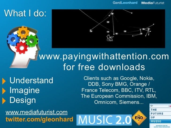 What I do:                www.payingwithattention.com                 for free downloads ‣ Understand              Clients...