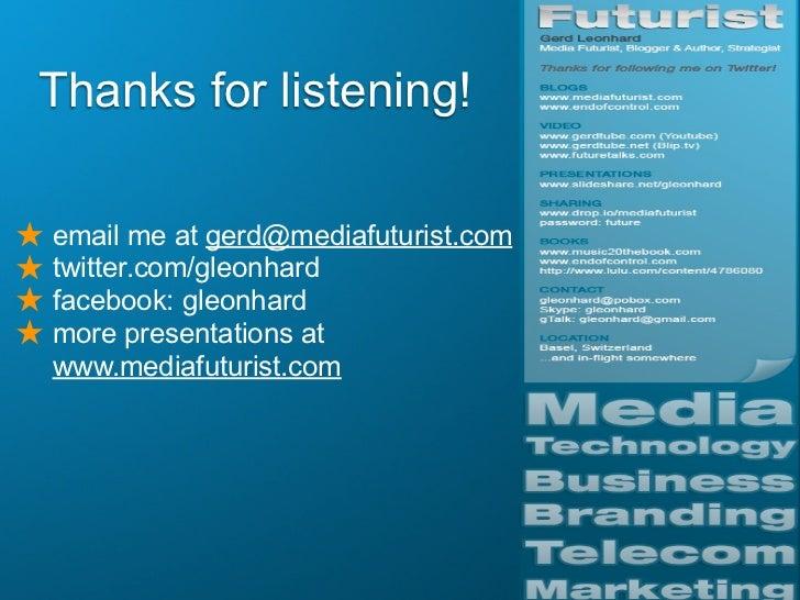 Content 2.0: Free vs Paid: Futurist Gerd Leonhard @ Tokyo 2.0