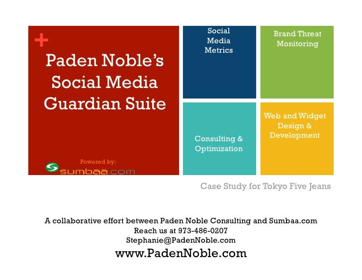 Social <br />Media<br />Metrics<br />Brand Threat Monitoring <br />Paden Noble'sSocial MediaGuardian Suite<br />Web and Wi...
