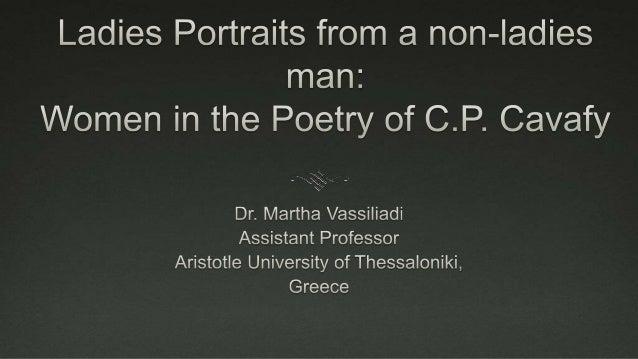 C.P. Cavafy 1863-1933
