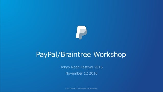 PayPal/Braintree Workshop