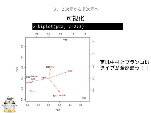 可視化3、2次元から多次元へ実は中村とブランコはタイプが全然違う!!