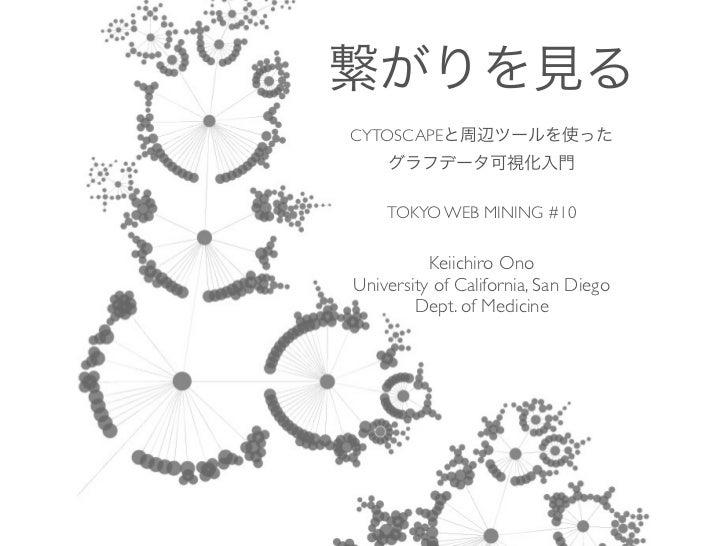 CYTOSCAPE    TOKYO WEB MINING #10          Keiichiro OnoUniversity of California, San Diego        Dept. of Medicine
