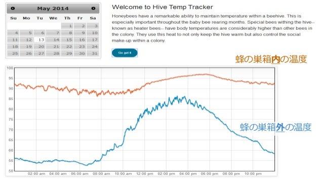 35 蜂の巣箱内の温度 蜂の巣箱外の温度