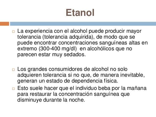 Etanol   Por último el sujeto puede despertar por la noche    y tomar una copa para evitar la inquietud    producida por ...
