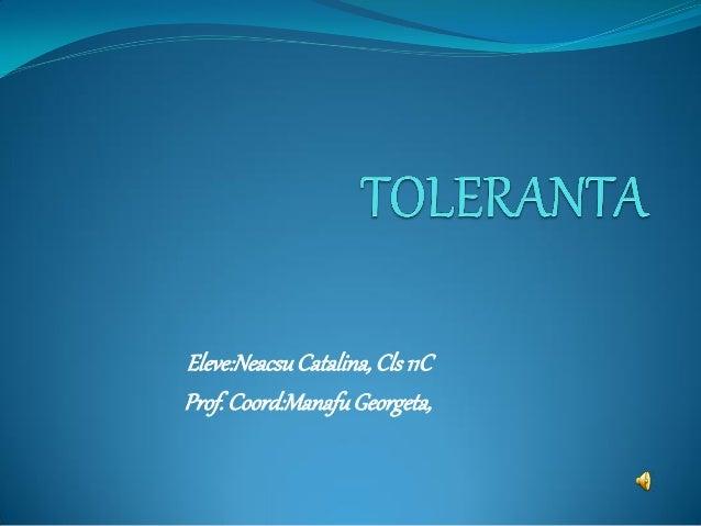 Eleve:Neacsu Catalina, Cls 11C Prof. Coord:Manafu Georgeta,