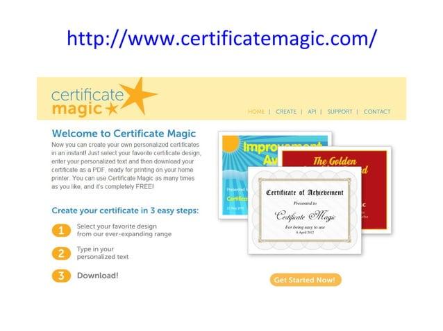 http://www.certificatemagic.com/