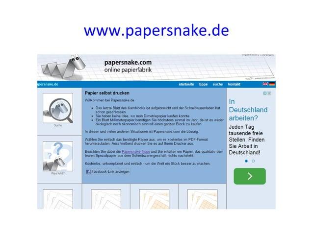 www.papersnake.de
