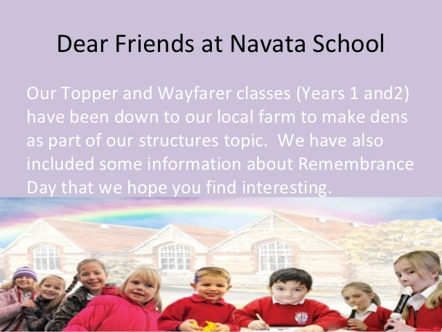 Dear Friends at Navata SchoolOur Topper and Wayfarer classes (Years 1 and2)have been down to our local farm to make densas...