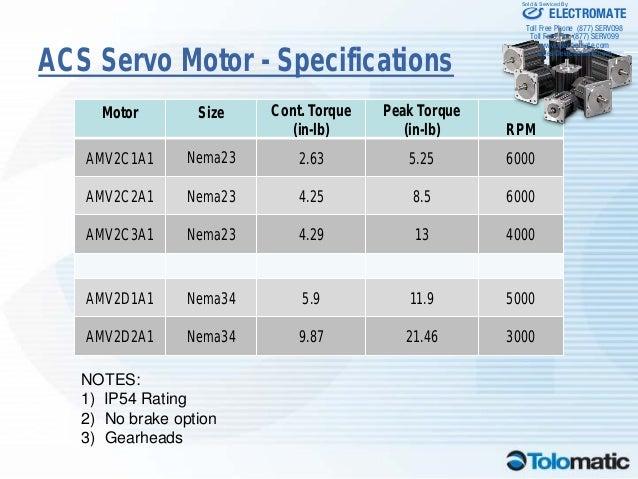 Tolomatic Acs Servo Launch Presentation