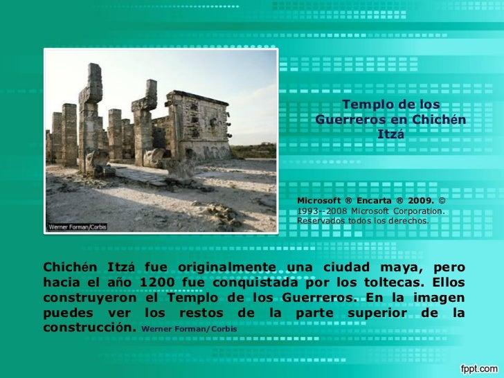 Templo de los                                      Guerreros en Chichén                                              Itzá ...