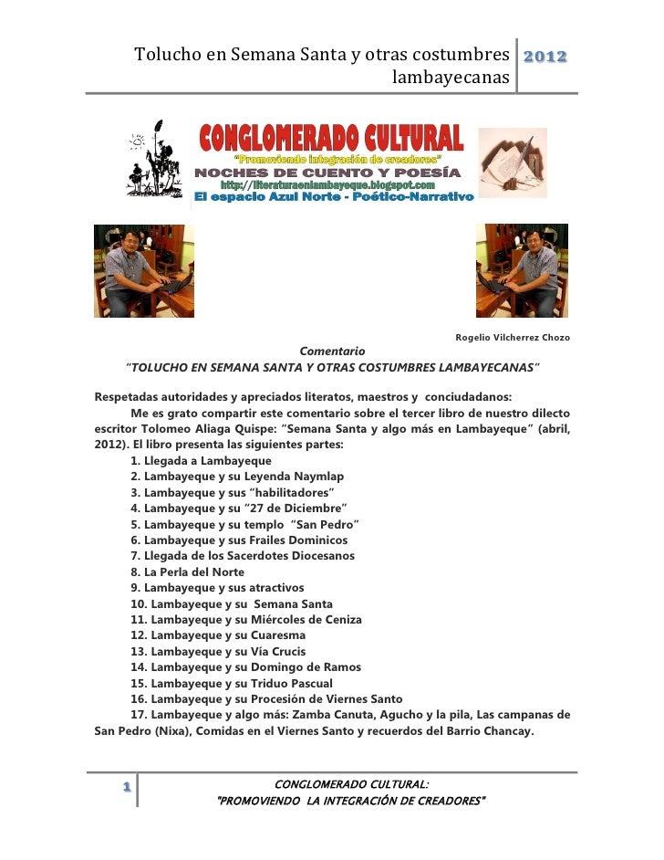 Tolucho en Semana Santa y otras costumbres 2012                                      lambayecanas                         ...