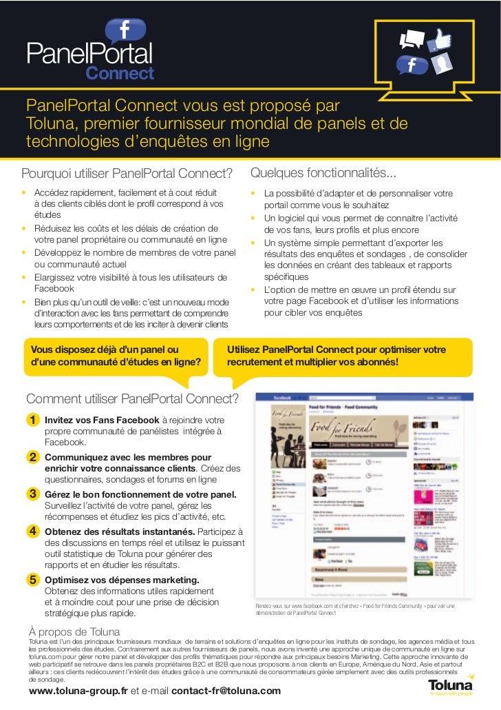 ConnectPanelPortal Connect vous est proposé parToluna, premier fournisseur mondial de panels et detechnologies d'enquêtes ...