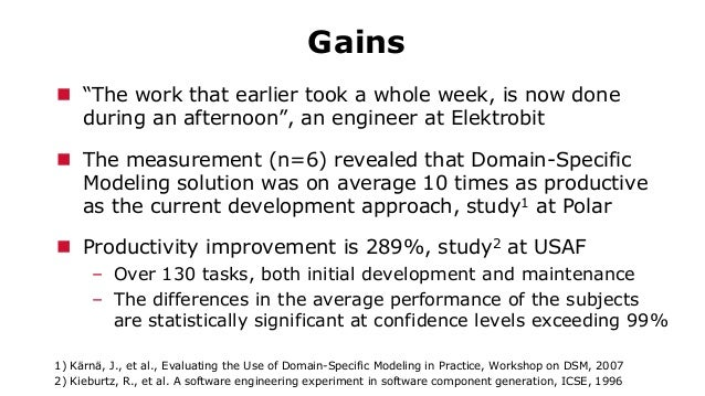 """Gains  """"The work that earlier took a whole week, is now done during an afternoon"""", an engineer at Elektrobit  The measur..."""