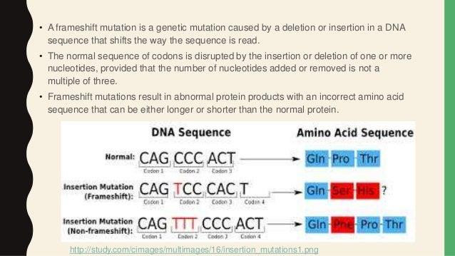 Types of Mutation :- Frameshift, Reversion and Spontaneous