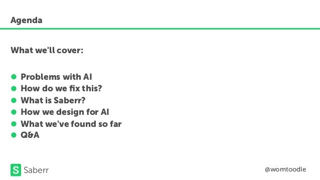 The role of UX design in AI by Tom Woodel Slide 2