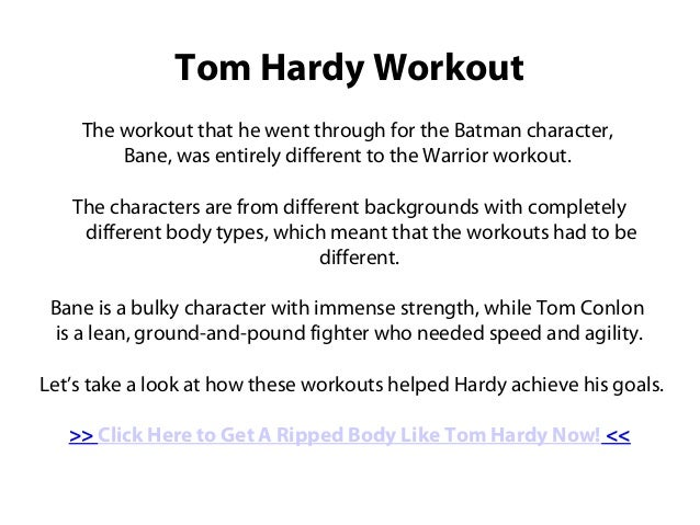 Tom Hardy Workout Routine to Gain Muscle
