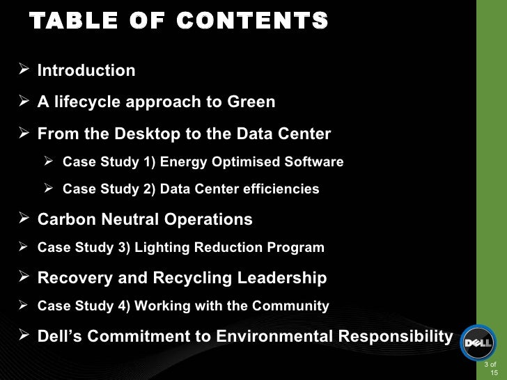 computing goes green case study