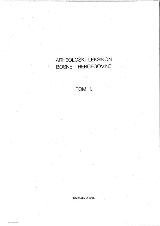 Arheoloski leksikon, Tom 1