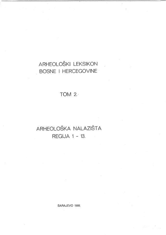 Arheoloski leksikon, Tom 2